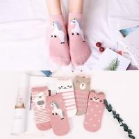 5 Pasang Kaus Kaki Wanita Korea / Kaus Kaki Pendek / Ankle Socks xg23