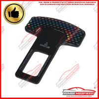 SEAT BELT BUCKLE - COLOKAN SEAT BELT - ALARM STOPPER - CARBON