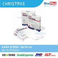 Kasa Steril OneMed 16x16 cm isi 10 Lembar