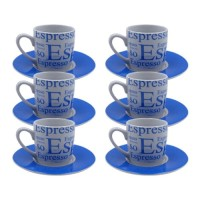 KedaungHome Cangkir/Mug Espresso Blue 12set KPB-06CS HNP15657
