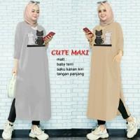 Cute Maxi Xl long tunik muslim tunik kaos tunik wanita tunik panjang