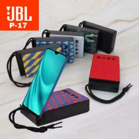 Speaker Portable Bluetooth Wireless Stereo JBL P17 Phone Stand Dual Hp - Hitam