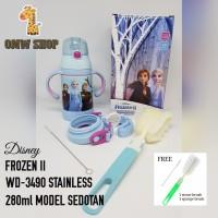 OMWshop Botol Minum Anak Stainless 280ml Ori Disney Frozen II WD-3490