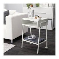 IKSetskog Meja Samping Minimalis Dgn Roda Bed Side Table 45x65 Putih