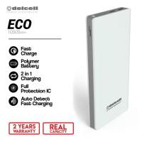 DelCell Eco Power Bank Polimer Battre 10000 mAh Real Capacity