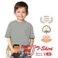 3 Pcs - KaosYES Kaos Polos Anak (Hitam & Abu Misty) - Kid Satu, Abu-abu