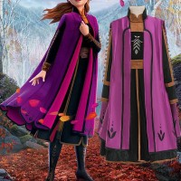 Baju Anna Coat Set Frozen 2 Princess CG65