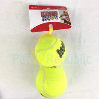 Mainan Anjing KONG AST1 Squeakair Tennis Ball Large 2pcs