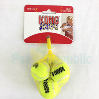 Mainan Anjing KONG AST5 Squaekair Tennis Ball X-Small 3pcs