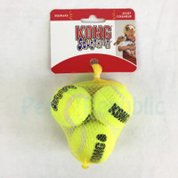 Mainan Anjing KONG AST3 Squaekair Tennis Ball Small 3pcs