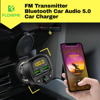 FM Transmitter MP3 Player Bluetooth 5.0 Car Charger Audio Mobil