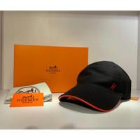 TOPI HERMES PARIS HAT / BASEBALL CAP PRIA WANITA - BLACK