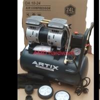 Compressor Kompresor Oilless Silent Tanpa Oli 1HP 24L Artix OA1024