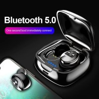 Tws Bluetooth 5.0 Earphone Nirkabel Headphone True Wireless Stereo