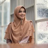 Jilbab Khimar Malika Serut 2 Layer Jilbab Bergo Instan Hijab Syari