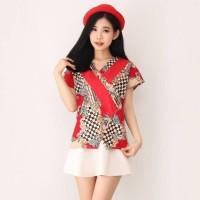 Blouse Batik Cheongsam Wanita Atasan Batik Kualitas Bagus