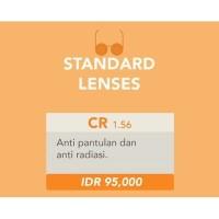 Lensa kacamata Minus / Plus / Silinder / cyl / CR 39 Anti Radiasi