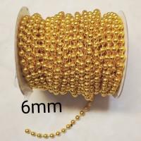 Rantai mutiara 6mm gold