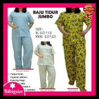 Piyama Jumbo Celana Panjang 851 - Baju Tidur Bigsize 851 - Salur Hijau