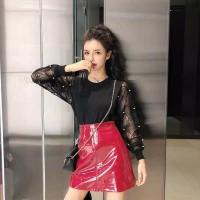 Blouse Knit Lengan Panjang Pearl Import 1193