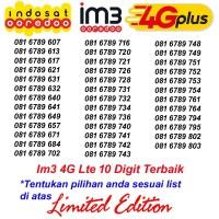 Im3 4G Lte 10 Digit 081 6789 Kartu Perdana Nomor Cantik Indosat Ooredo
