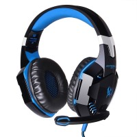 Kotion G2000 Gaming Headset Super Bass with LED Light - Hitam Biru