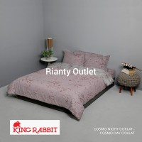 Bed Cover King Rabbit - Single 140 - Cosmo Night Coklat