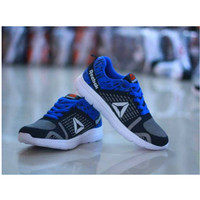Sepatu Olahraga Pria Wanita Warna Hitam-Biru / Nomor 39-43