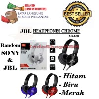 HEADPHONE BANDO JBL XB-450 STEREO MIC HEADSET EXTRA BASS EARPHONE