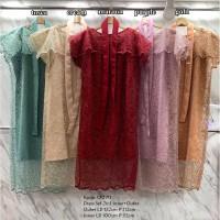 Dress Midi Pearl Glitter Brukat Tile Lace Import SALE fit XL CK1911