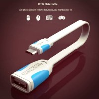 Vention A09 Kabel OTG Micro USB b male to USB type A female flat