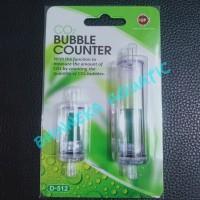 Co2 Bubble Counter + Check Valve Up D-512 untuk Aquascape