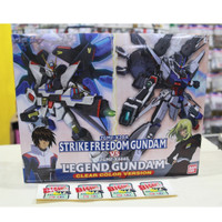 Bandai NG 1/100 Strike Freedom VS Legend Gundam CLEAR COLOR VERSION