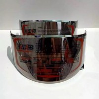 kaca helm / Flat visor nhk rx9 pnp gm race pro iridium silver