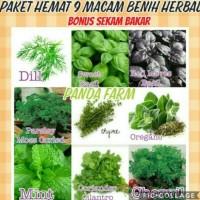 Paket Hemat 9 Macam Benih Herbs Mint Thyme Oregano Dill Basil Chervil