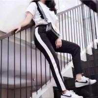 ZARA PANTS MILANO (bahan milano super) / ZARA PANT/ SIDE STRIPE PANTS