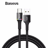 Kabel Data LED Baseus Halo Fast Charging iPhone/Micro USB/Type-C 1M