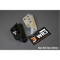 BRACKET KALIPER BREMBO 4P 1PIN NEW R25 (STANDARD / 320MM)