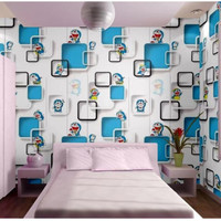 Wallpaper Dinding Doraemon 3D