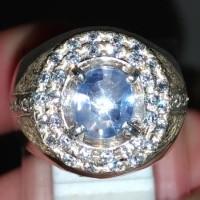 Batu Cincin Star Safir Blue Natural Asli (kode 383)