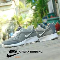 Sepatu Nike Airmax Running Abu Putih - Gym Olahraga Casual Pria