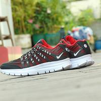 Sepatu Sport Nike Airmax 3D Skin - Hitam Merah - Casual Pria