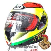 KYT HELM RC SEVEN #15 | YELLOW FLUO RED GREEN | RC7 RCSEVEN Limited