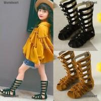 Sepatu Sandal Gladiator Romawi Anak Perempuan untuk Musim Panas