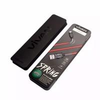 Kabel Data Charger Micro Android Vivan FM100 Spring Ujung Anti Putus