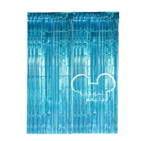 Tirai Foil Biru Muda / Backdrop Foil / Tirai Foil Curtain