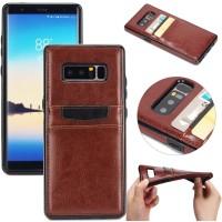 Samsung galaxy NOTE 8 leather bumper retro back cover soft case card