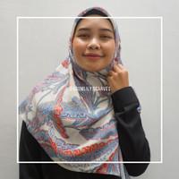 Hijab Segi Empat Motif Banana Leaves / Jilbab Premium / Kerudung