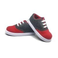 Sepatu Anak Laki-Laki Murah Trendy Casual Stylist Abu Merah - 21