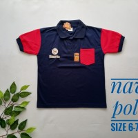 kaos anak polo shirt pocket usia 4 sampai 9 tahun lengan pendek